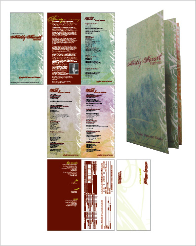self-mailer brochure + order form